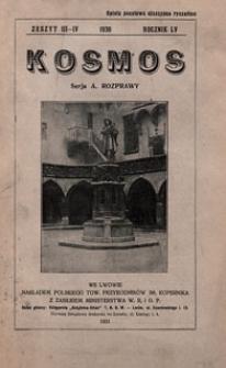 Kosmos 1930 nr 3-4. Seria A. Rozprawy