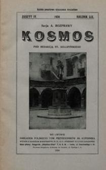 Kosmos 1934 nr 4. Seria A. Rozprawy