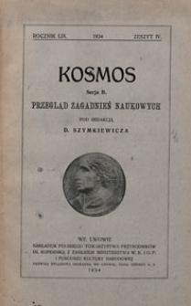 Kosmos 1934 nr 4. Seria B. Przegląd zagadnień naukowych