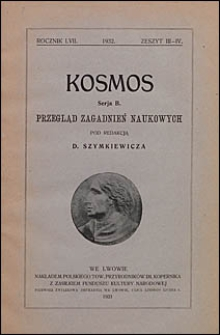 Kosmos 1932 nr 3-4. Seria B. Przegląd zagadnień naukowych
