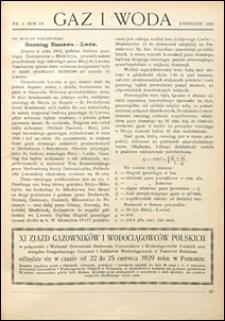 Gaz i Woda 1929 nr 4