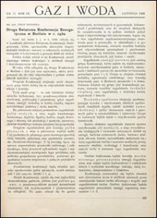 Gaz i Woda 1929 nr 11