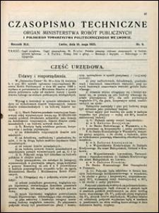 Czasopismo Techniczne 1923 nr 9