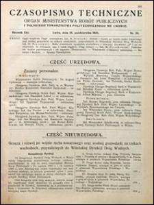 Czasopismo Techniczne 1923 nr 20