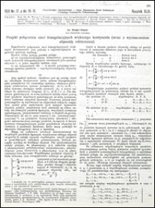 Czasopismo Techniczne 1931 nr 17