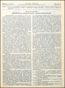 Czasopismo Techniczne 1934 nr 1