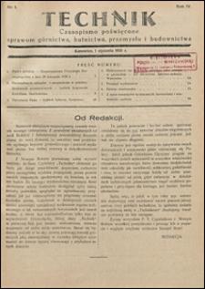 Technik 1931 nr 1