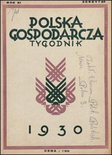 Polska Gospodarcza 1930 nr 20