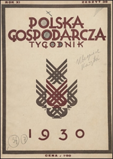 Polska Gospodarcza 1930 nr 38