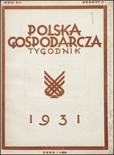 Polska Gospodarcza 1931 nr 7
