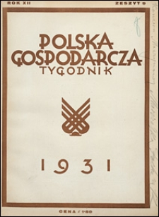 Polska Gospodarcza 1931 nr 9