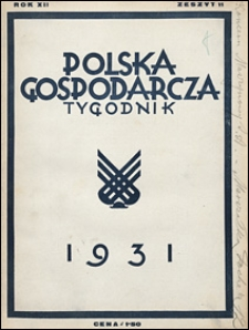 Polska Gospodarcza 1931 nr 11