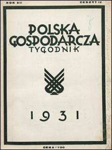 Polska Gospodarcza 1931 nr 12