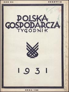 Polska Gospodarcza 1931 nr 13