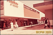 Centrum miasta, dom handlowy, widok naroża budynku, Coventry, Anglia, Wielka Brytania