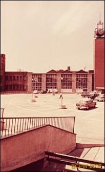 Hala targowa oraz wieża straży pożarnej, Coventry, Anglia, Wielka Brytania