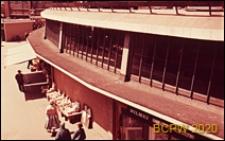 Centrum miasta, hala targowa, fragment elewacji budynku, Coventry, Anglia, Wielka Brytania