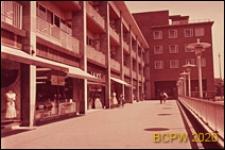 Centrum miasta, budynek mieszkalny trzykondygnacyjny, fragment, Coventry, Anglia, Wielka Brytania