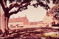 Fragment osiedla w krajobrazie, budynki mieszkalne jednopiętrowe, Crawley, Anglia, Wielka Brytania