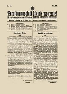 Statut Politechniki Warszawskiej. Dziennik Rozporządzeń dla Jenerał-Gubernatorstwa Warszawskiego. 1916 nr 48