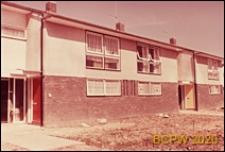 Fragment zabudowy mieszkaniowej, domy szeregowe jednopiętrowe, Hatfield, Anglia, Wielka Brytania