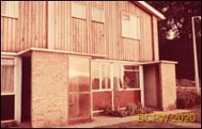 Budynek mieszkalny jednopiętrowy, wejście do domu, Hatfield, Anglia, Wielka Brytania