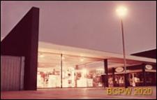 Centralny ośrodek handlowy, widok w nocy, fragment budynku, Hatfield, Anglia, Wielka Brytania