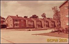 Fragment osiedla mieszkaniowego, domy szeregowe jednopiętrowe, Hemel Hempstead, Anglia, Wielka Brytania