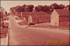 Nowa część miasta, zabudowa mieszkaniowa, widok ogólny, Welwyn Garden City, Anglia, Wielka Brytania