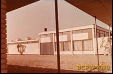 Motel, fragment budynku, widok z podcienia, Aarhus, Dania