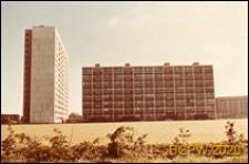 Osiedle mieszkaniowe Nygårdsparken, wysokościowiec i ośmiokondygnacyjny budynek mieszkalny, widok ogólny, Kopenhaga, Dania