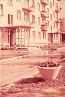 Osiedle Czeremuszki, fragment elewacji oraz wejścia do budynku mieszkalnego, Moskwa, Rosja