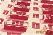 Osiedle Czeremuszki, fragment elewacji budynku mieszkalnego, Moskwa, Rosja