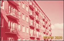 Osiedle Czeremuszki, elewacja pięciokondygnacyjnego budynku mieszkalnego z wielkiej płyty, Moskwa, Rosja