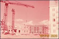 Osiedle Czeremuszki, budynek mieszkalny z wielkiej płyty w trakcie budowy, Moskwa, Rosja
