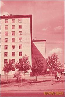 Dzielnica południowo-zachodnia, budynek mieszkalny ośmiokondygnacyjny, fragment elewacji, Moskwa, Rosja