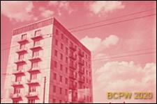 Dzielnica południowo-zachodnia, wieżowiec mieszkalny, widok naroża budynku, Moskwa, Rosja