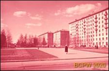 Dzielnica południowo-zachodnia, wieżowiece mieszkalne, widok ogólny, Moskwa, Rosja