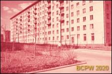 Dzielnica południowo-zachodnia, budynek mieszkalny ośmiokondygnacyjny, elewacja frontowa budynku, Moskwa, Rosja