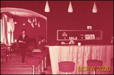 """Kawiarnia młodzieżowa """"Aèlita"""", wnętrze, lada barowa, Moskwa, Rosja"""