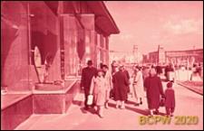 Leninskij prospekt, partery sklepowe, widok na Plac Gagarina, Moskwa, Rosja