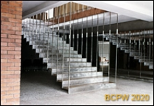 """Kawiarnia """"Palanga"""", wnętrze, schody w hallu, Wilno, Litwa"""