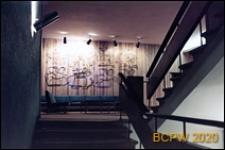 """Hotel """"Neringa"""", wnętrze, fragment ze schodami, Wilno, Litwa"""