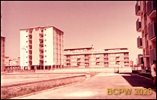 Osiedle mieszkaniowe INA-Casa, budynki mieszkalne, widok od strony wnętrza międzyblokowego, Rzym, Włochy