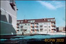 Fragment zabudowy mieszkaniowej, widok zimą, Gdańsk-Wrzeszcz