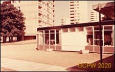 Osiedle Roehampton Lane, szkoła, fragment elewacji, Londyn, Wielka Brytania