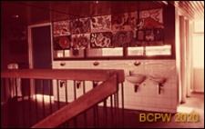 Szkoła pierwszego stopnia Bousfield Primary School, wnętrze, umywalnie, Londyn, Wielka Brytania