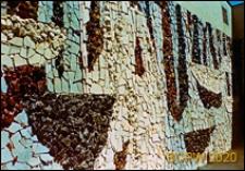Ośrodek wypoczynkowy Delfin, widok zewnętrzny, mozaika na ścianie, Jastrzębia Góra-Lisi Jar