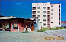 """Osiedle mieszkaniowe, pawilony handlowo-usługowe z kioskiem RUCH-u (Robotnicza Spółdzielnia Wydawnicza """"Prasa-Książka-Ruch""""), Lublin"""
