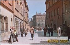 Ulica Bramowa, widok od strony Bramy Krakowskiej na kamienice przy Rynku, Lublin
